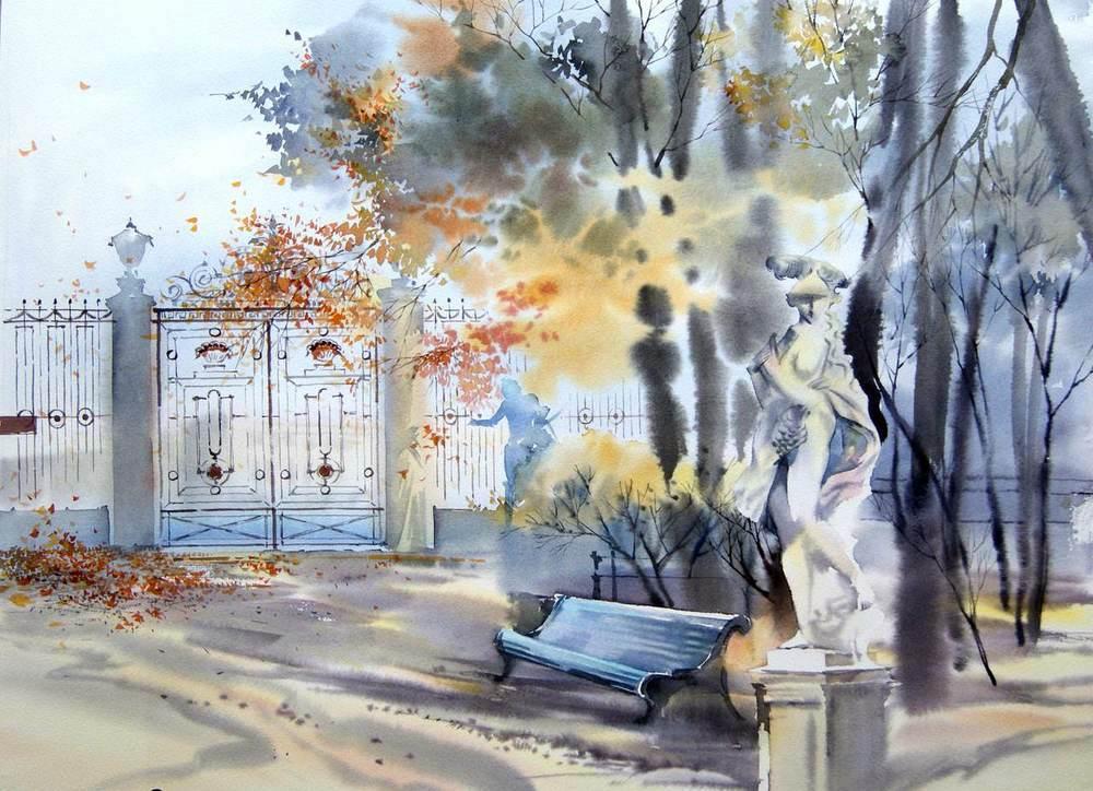 """""""Ты жди меня вечером в Летнем саду"""" — акварельный Санкт-Петербург Ольги Литвиненко"""