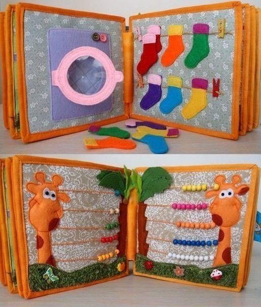 Идeя для книжки-развивашки рукоделие,творим с детьми