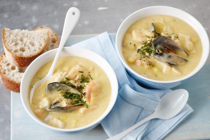 Рецепт сливочного супа с морепродуктами: ингредиенты, особенности приготовления, фото