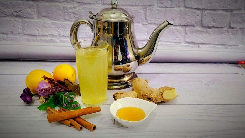 Правильный имбирный чай с лимоном и апельсином кулинария,напитки