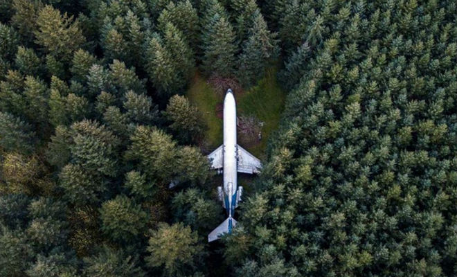 Пенсионер нашел в лесу брошенный самолет и вложил в него все деньги. Через полгода самолет стал в домом мечты