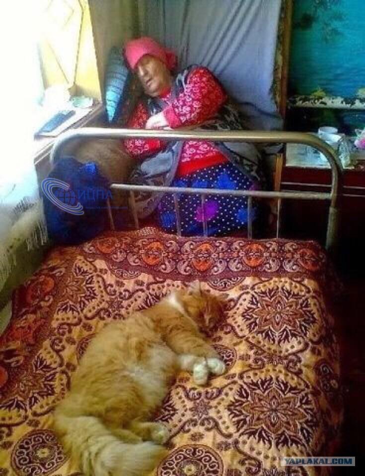 Бабушка воспитывает внука