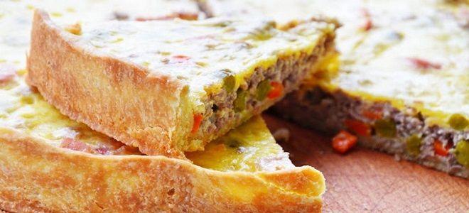 мясной пирог чугунок