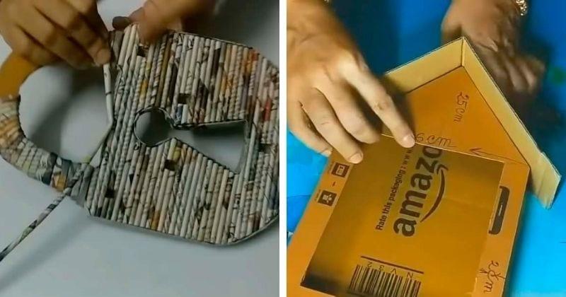 Разрезать и склеить! Картон и газета для супер-полезной вещицы