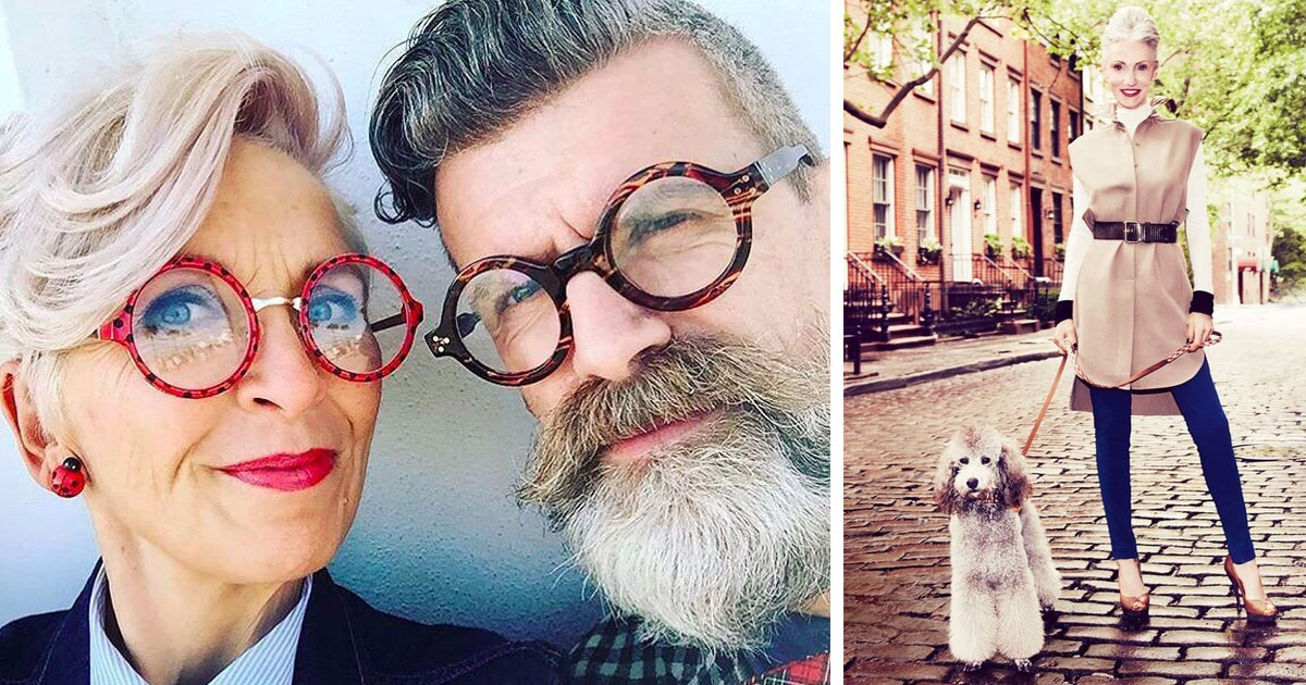 Модные бабушки и дедушки: 35 стильных образов