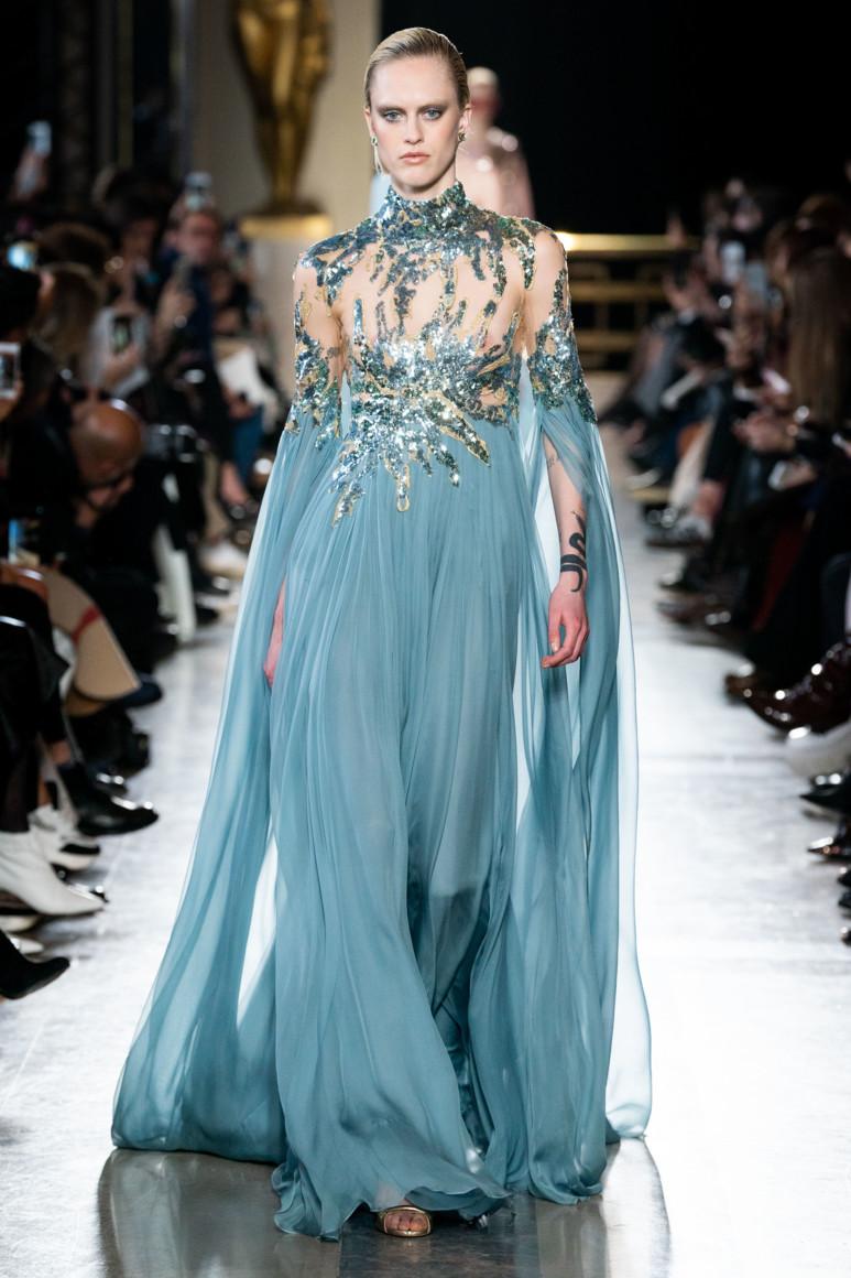 Elie Saab Haute Couture весна-лето 2019 - гламур и паетки торжествуют