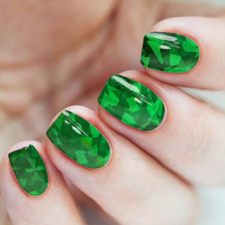 Зеленые ногти дизайн фото шеллак