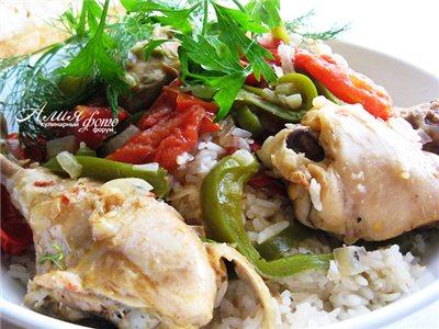 Курица по-баскски блюда из курицы,мясные блюда