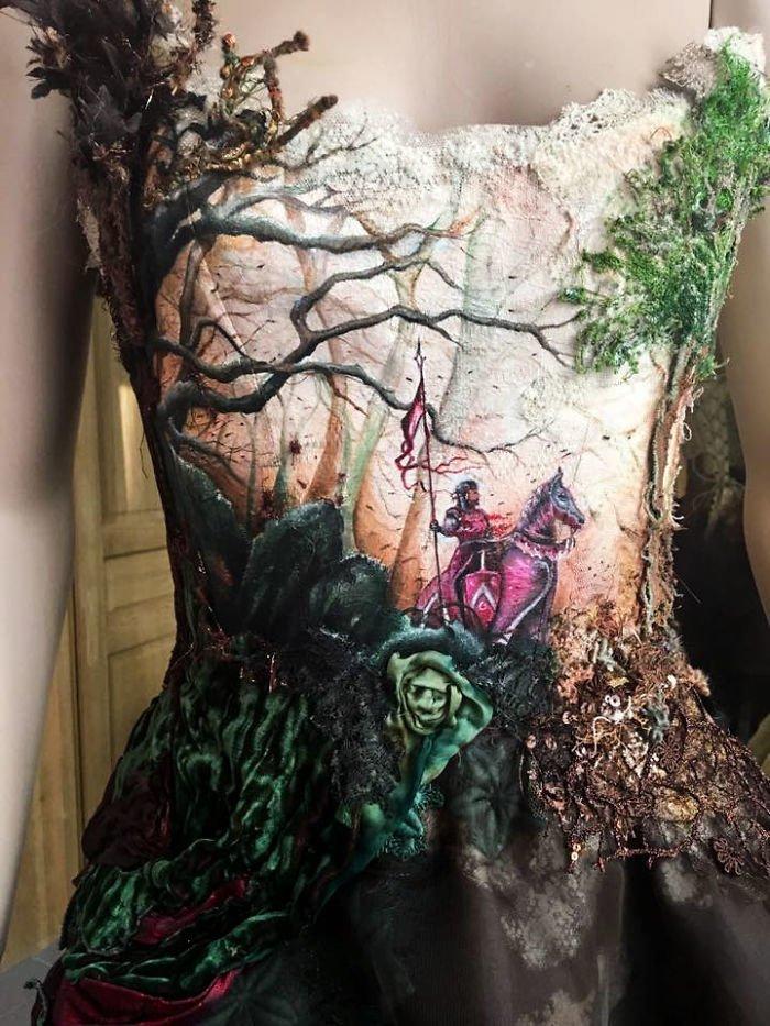 И платье по мотивам иллюстрации Дидье Граффе Сильви Фасон, красота, креатив, мода, одежда, платье, фантазия