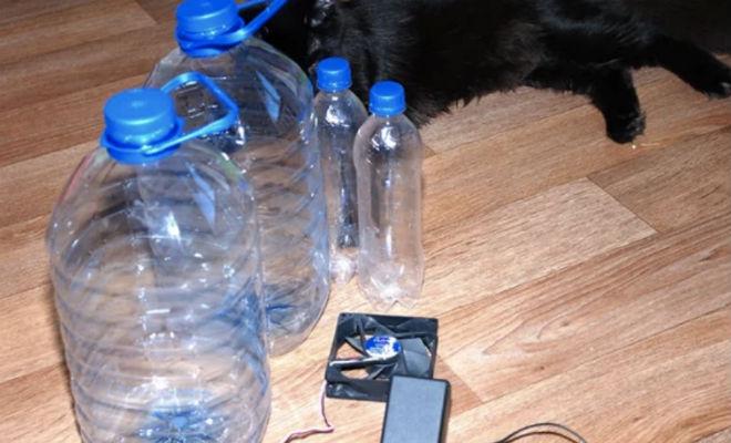 Как можно сделать кондиционер из пластиковых бутылок