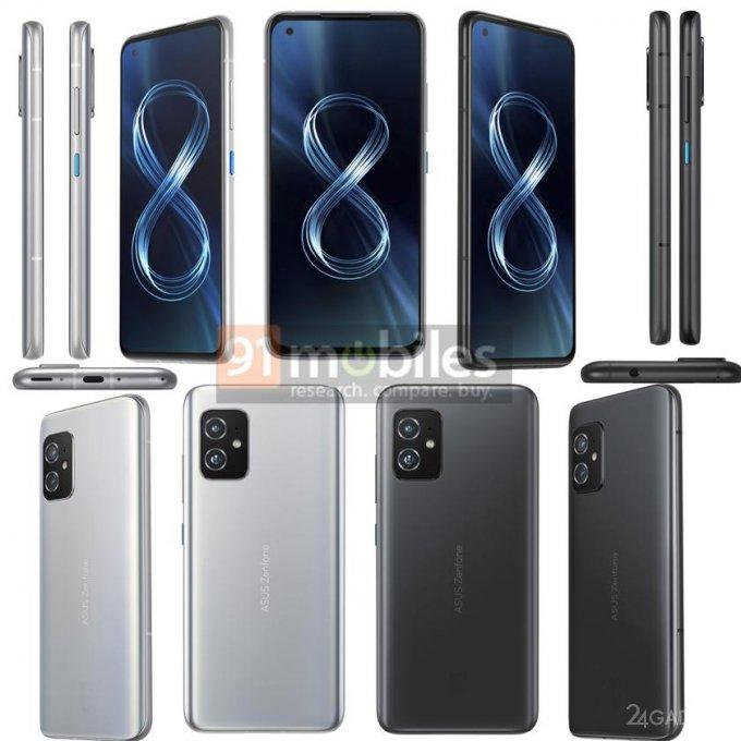 Раскрыты рендеры и технические характеристики ASUS ZenFone 8 и ZenFone 8 Flip будущее,гаджеты,мобильные телефоны,смартфоны,телефоны,техника,технологии,электроника