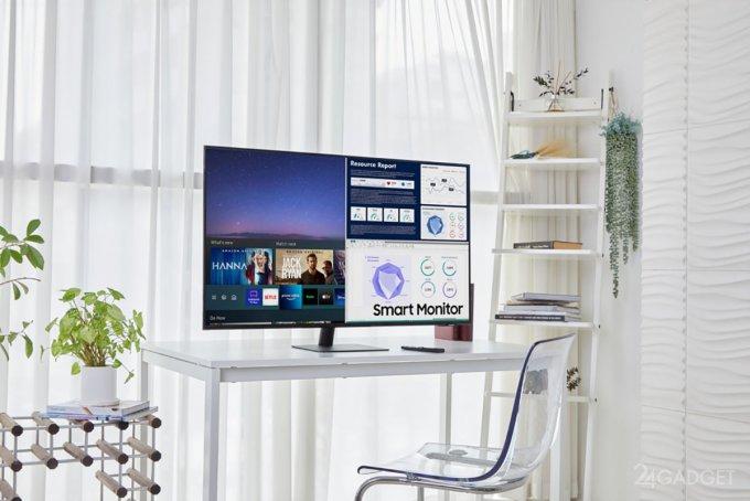 Samsung показала новые модели телевизора-монитора Smart Monitor будущее,бытовая техника,гаджеты,Интернет,наука,планшеты,ТВ,техника,электроника