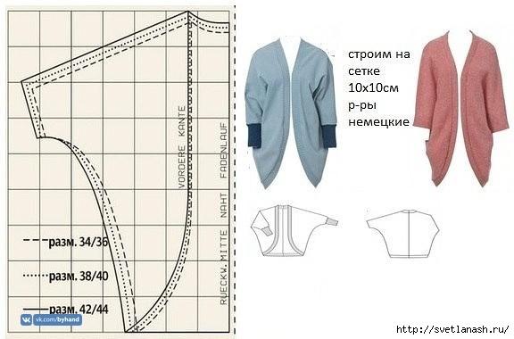Кардиган с простой выкройкой выкройка,кардиган,Одежда,шитьё