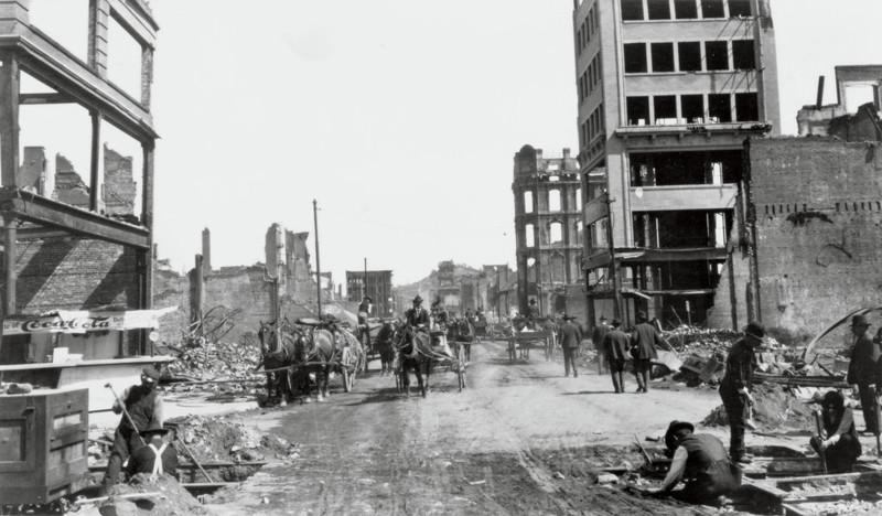 Сан-Франциско, 1906 г. Развалины на месте Керни-стрит джек лондон, история, фото