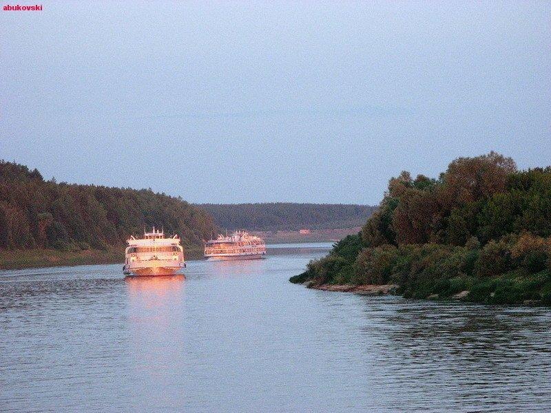 Прогулка по реке Ока