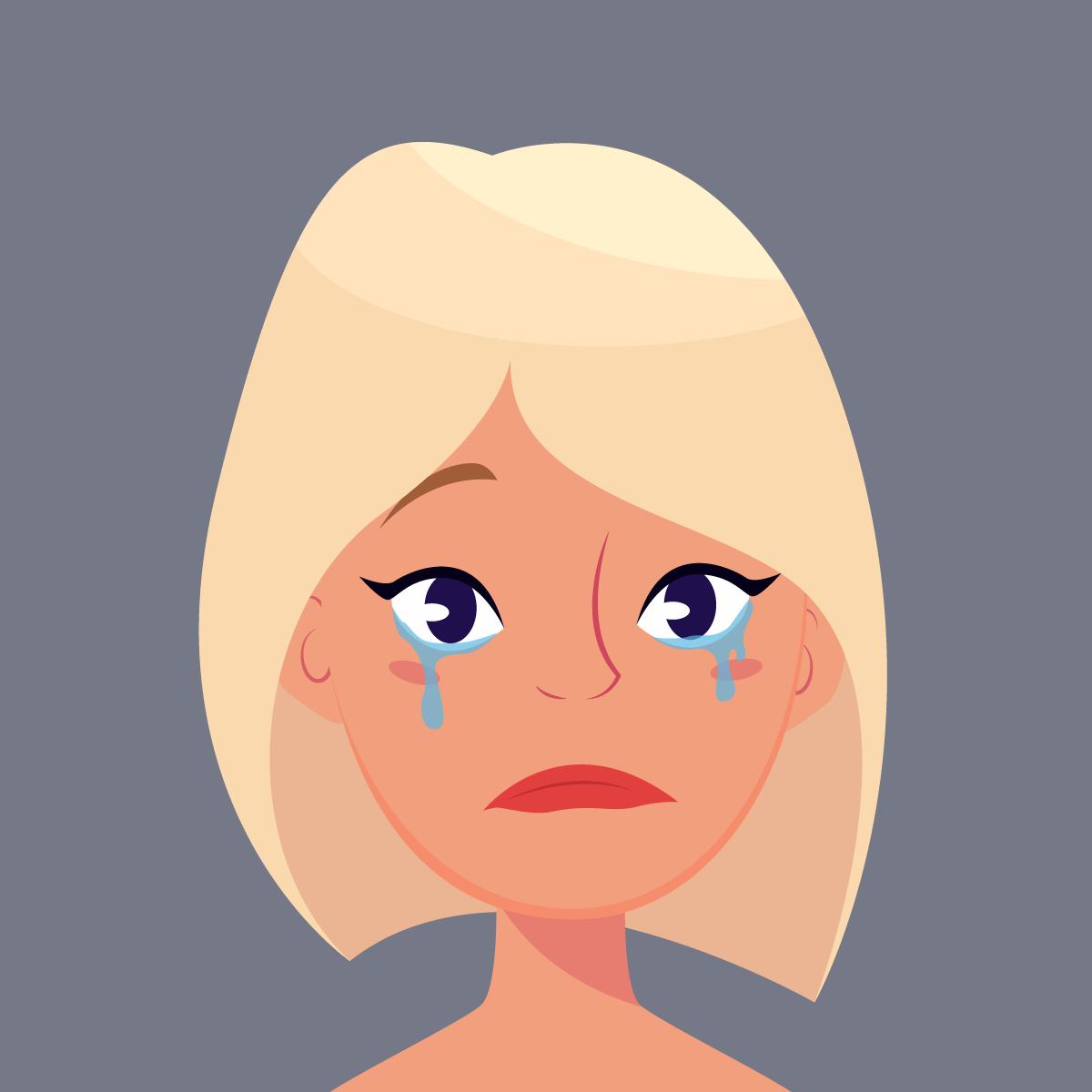 Почемуже такая красавица плачет?