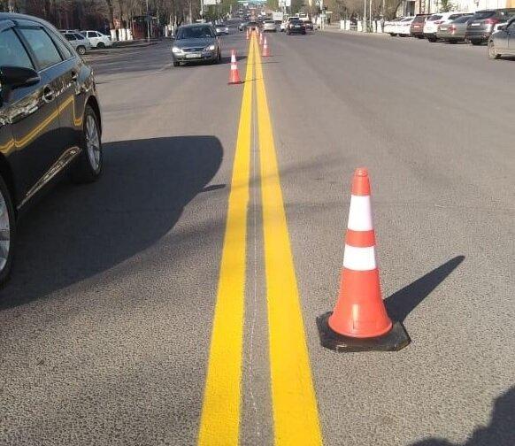 Увидел на дороге двойную сплошную жёлтого цвета. Узнал, что она означает