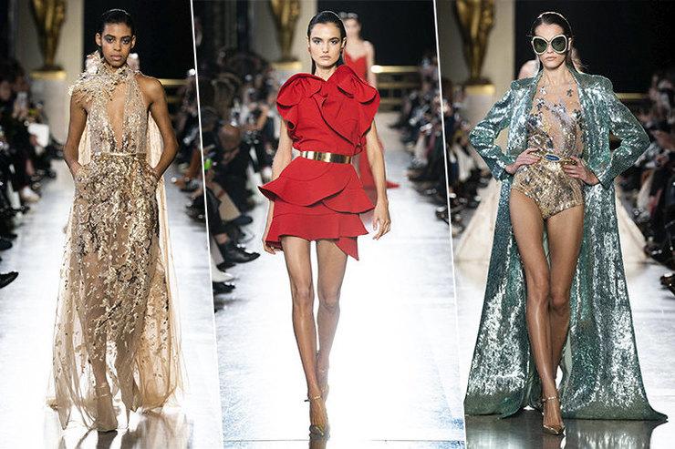 Elie Saab Haute Couture весна-лето 2019 - гламур и пойетки торжествуют