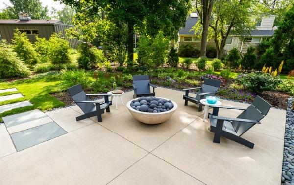 Дизайн проект двора частного дома в современном стиле