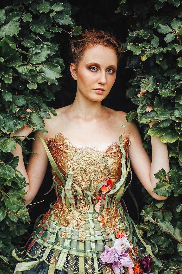 Два платья в стиле цветочного сада Сильви Фасон, красота, креатив, мода, одежда, платье, фантазия