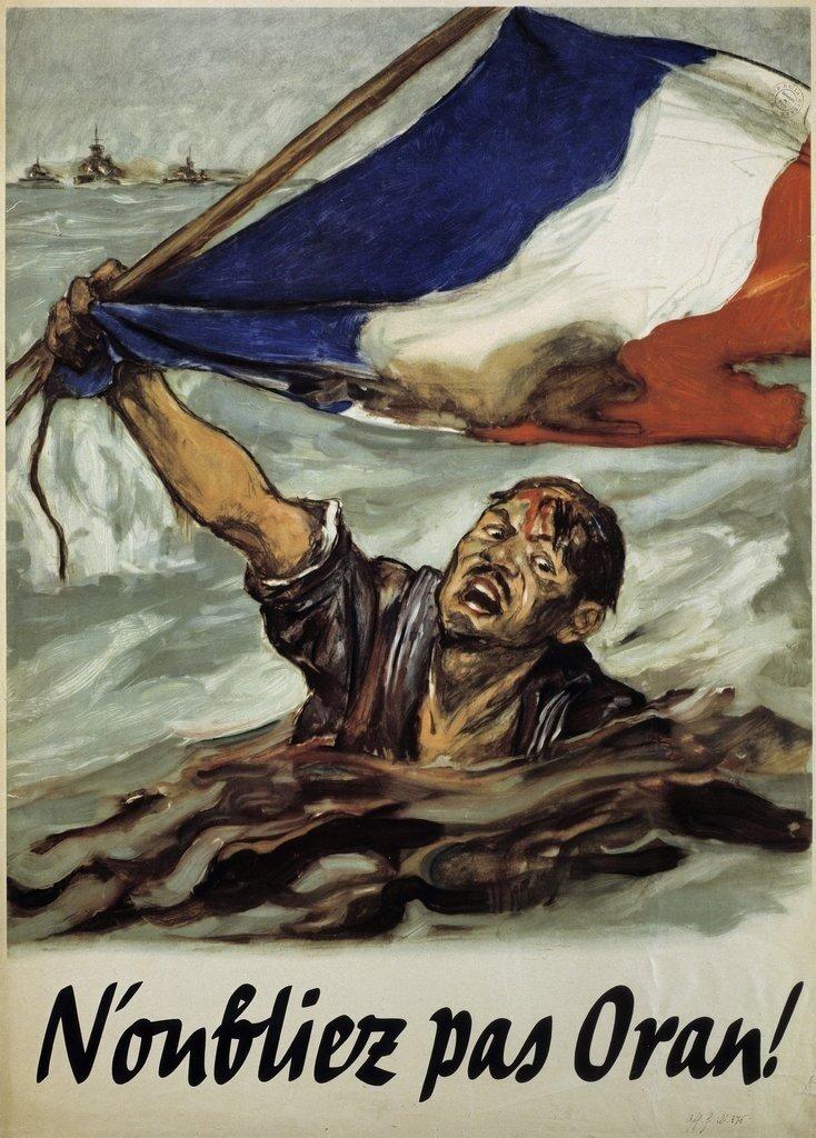Французский плакат: «Помни про Оран»