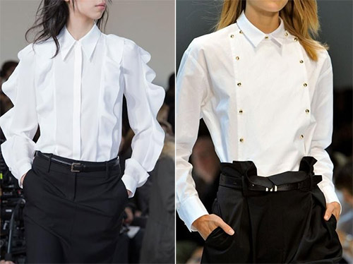 Белая блузка для новогодней вечеринки