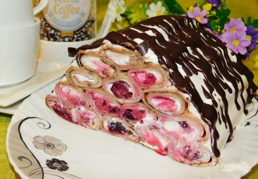 """Блинный торт """"Домик в деревне"""""""