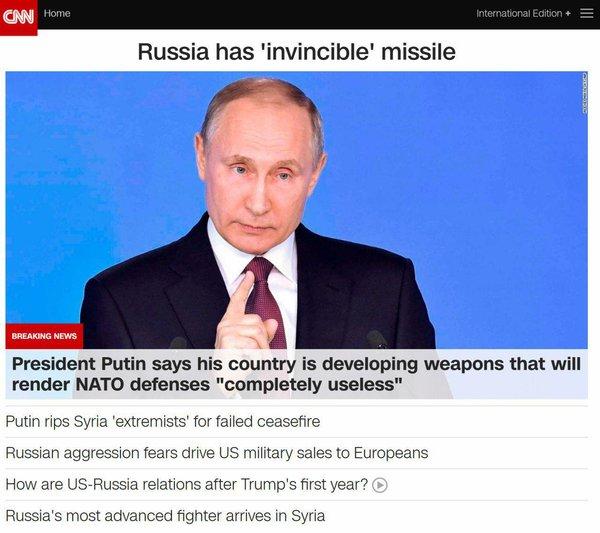 Иностранцы о военной части доклада Путина: «Санкции - пшик, а вывод один - НИКОГДА НЕ ВОЮЙТЕ С РУССКИМИ!»