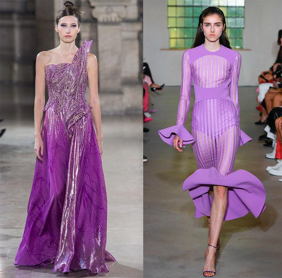 Фиолетовые платья на выпускной