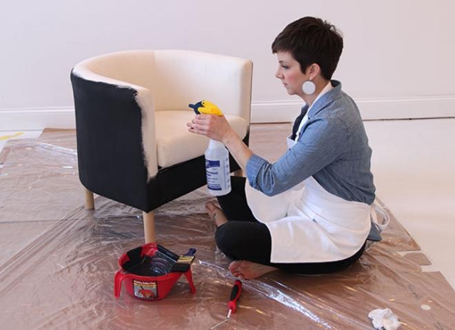 Перекраска кресла (Diy)