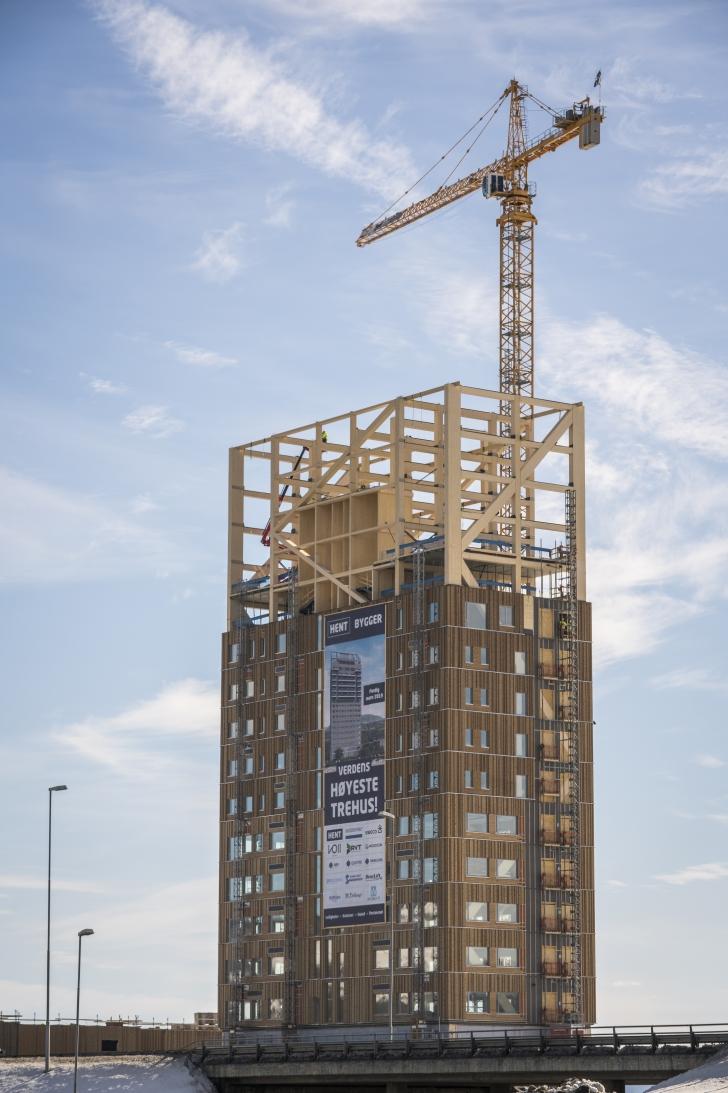 В Норвегии построили самый высокий в мире деревянный небоскреб архитектура