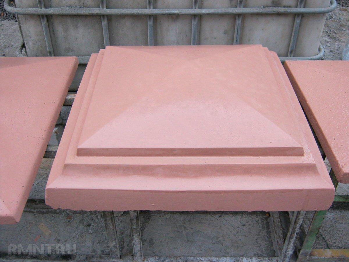 бетонный колпак на кирпичный столб