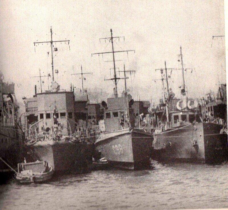 Французские корабли в Портсмуте