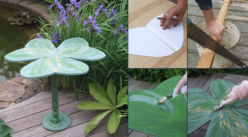 Красивый садовый стол «Клевер» своими руками. Мастер-классы Ольги Вороновой для дома и дачи,мастер-класс,мебель