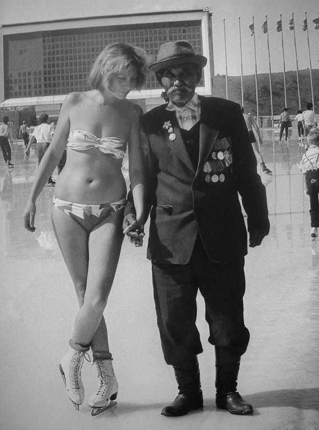 На высокогорном катке Медео, 1990 год, Казахская ССР история, события, фото
