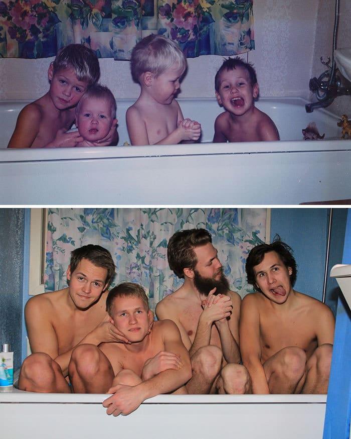 Детство отдых Pic Of Me, мой брат и два кузена