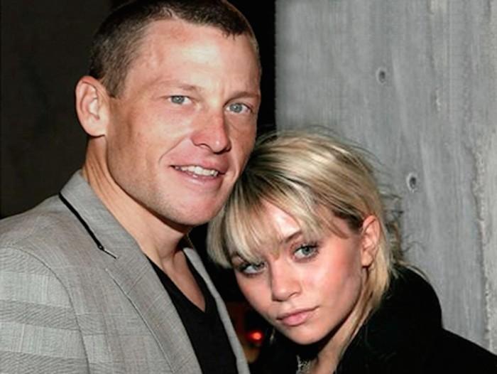 Эшли Олсен и Ланс Армстронг. \ Фото: google.com.