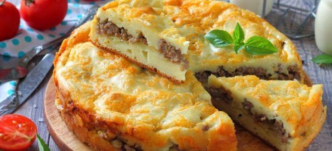 заливной мясной пирог