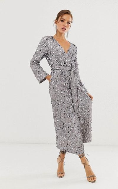 Платье цвета металлик 2020