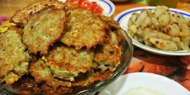 Топинамбур рецепты: Оладьи из топинамбура и кабачков