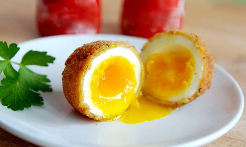 Рецепт яиц пашот жареных во фритюре