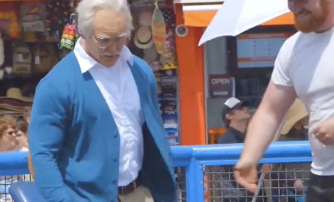 Силач переоделся в пенсионера и вышел на тренировку: поднять штангу больше никто не смог Культура