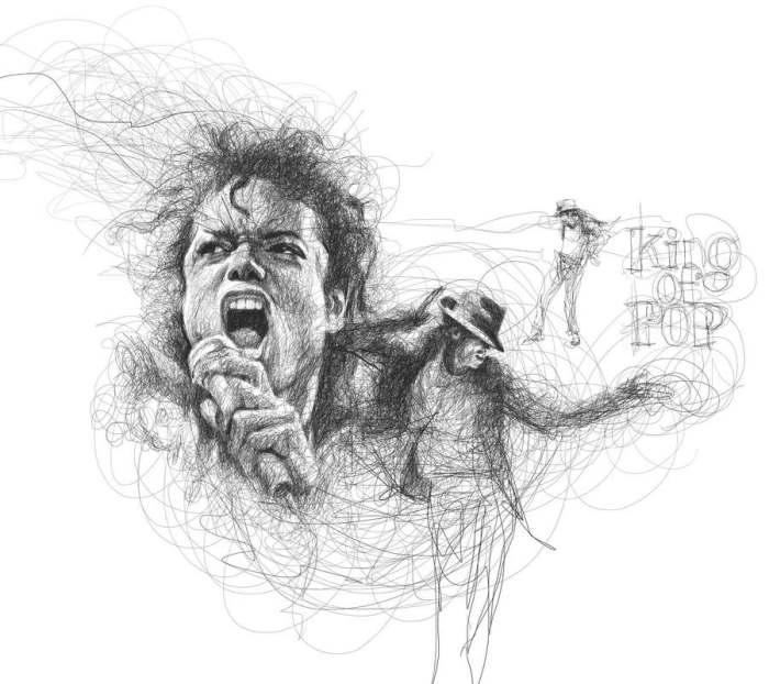 Легендарный Майкл Джексон. Автор: Vince Low.