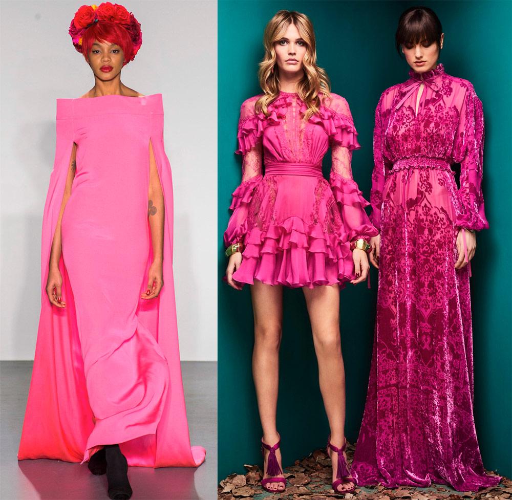 Подборка платьев розовых оттенков в коллекциях 2018-2019 года