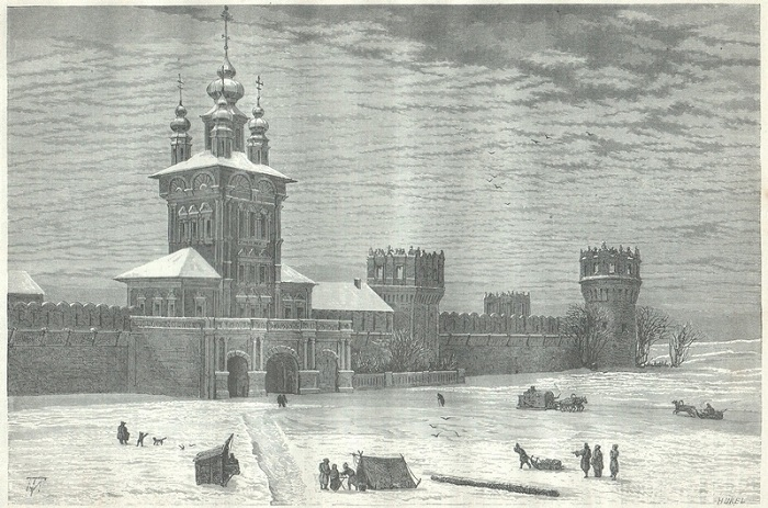 Православный женский монастырь в Москве, на Девичьем поле в излучине Москвы-реки.