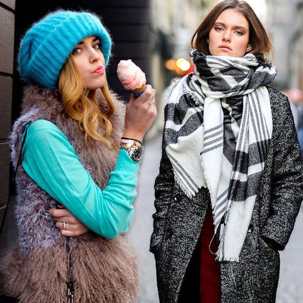 Объемный шарф, шапка-чулок и…