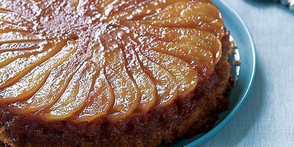 Перевёрнутый пирог с карамелизированными грушами