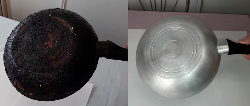 как очистить чугунную кастрюлю от нагара