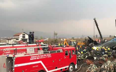 Полиция подтвердила гибель 38 человек в результате крушения самолёта в Катманду