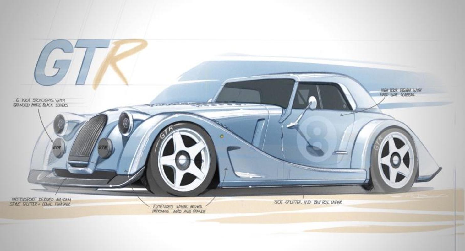 Morgan выпустит ограниченную серию спорткаров Plus 8 GTR Автомобили